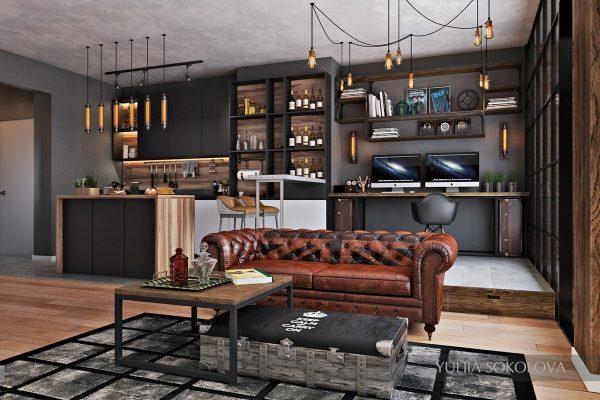 Arredare il salotto modernamente: perché privilegiare l'industrial style?